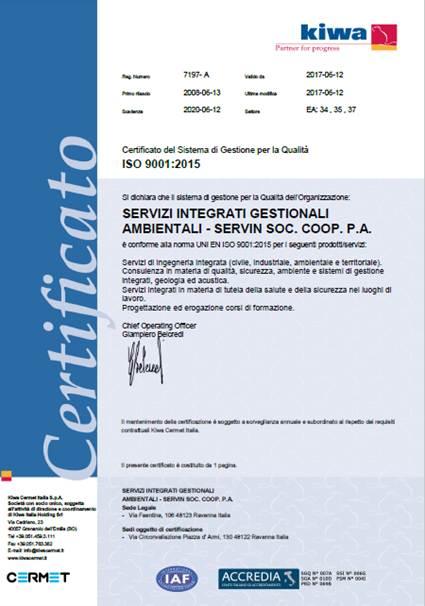 Certificato Kiwa UNI-EN-ISO 9001